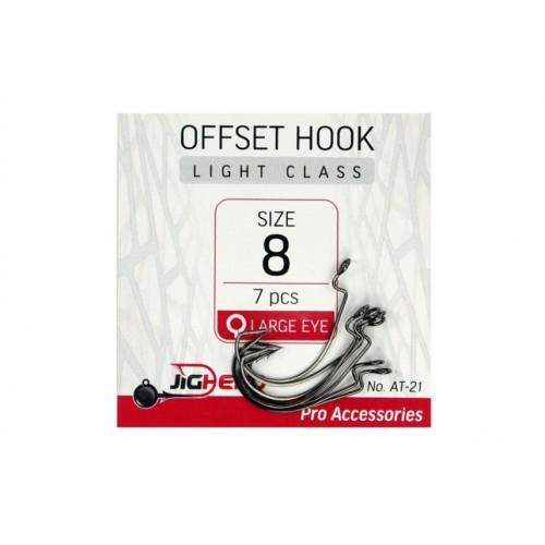 Kabliukai JigHead Offset Hooks Light Class