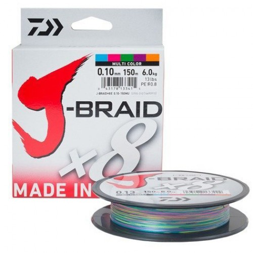 Pintas valas Daiwa J-BRAID X8 300m multicolor