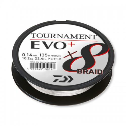 Pintas valas Daiwa Tournament X8 Braid EVO+ White 135m