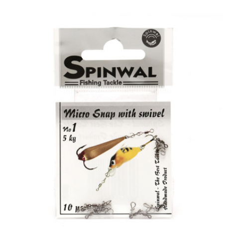 Spinwal Micro Snap with swivel Nr.1