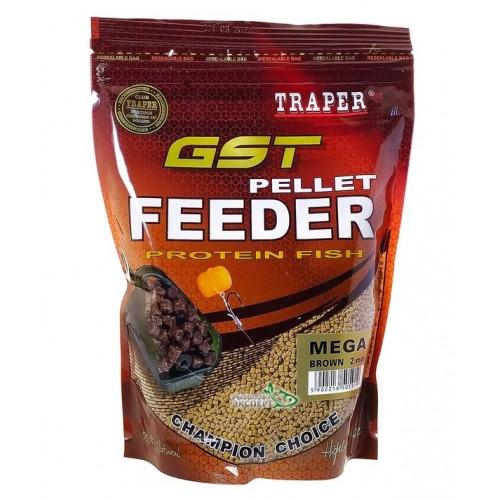 Traper GST pellet Feeder Mega Brown 2mm
