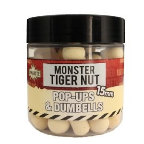 Dynamite Baits Pop-Ups Fluro and Dumbells Monster Tiger Nut  15mm