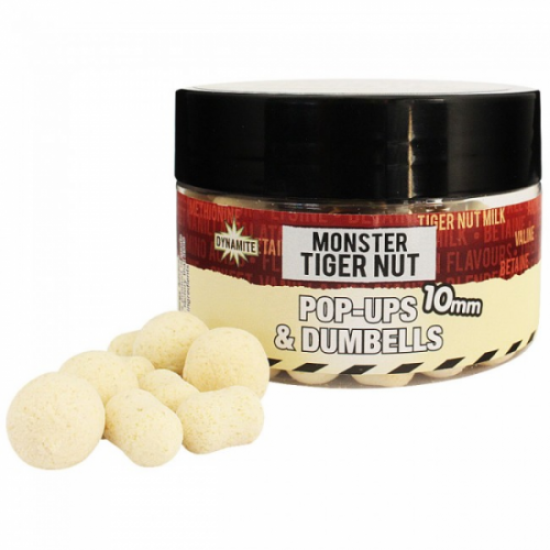 Dynamite Baits Pop-Ups Fluro and Dumbells Monster Tiger Nut 10mm