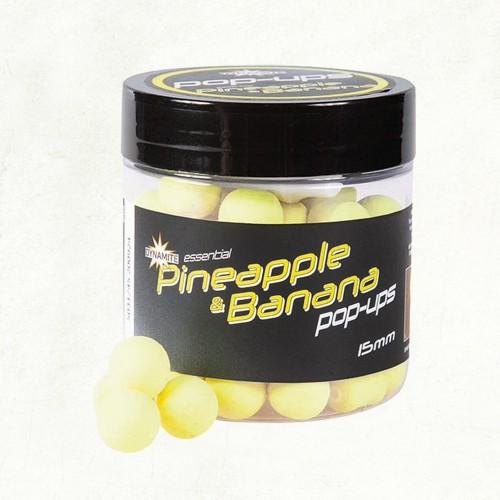 Dynamite Baits Fluro Pop-Ups Pineapple and Banana 15mm