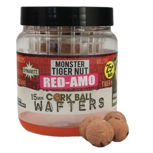 Dynamite Baits Pop-Ups Cork Ball Wafters Monster Tiger Nut Red-Amo 15mm