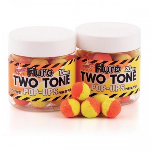 Dynamite Baits Pop-Ups Fluro Two Tone Tutti Frutti and Pineapple 15mm