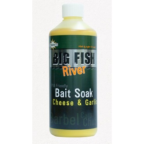Dynamite Baits Big Fish River Bait Soak Cheese and Garlic
