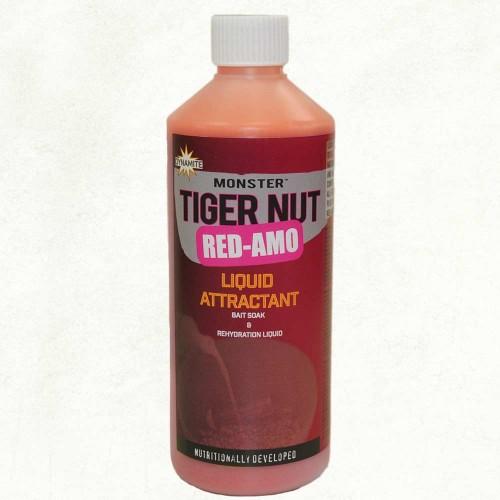Dynamite Baits Liquid Attractant Bait Soak and Rehydration Liquid Monster Tiger Nut Red-Amo